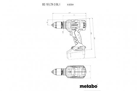 BS 18 LTX-3 BL I (602354660) Accu-boorschroefmachine