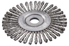 Ronde borstel 125x0,5x6 /22,23 mm, staal, getordeerd (626815000)