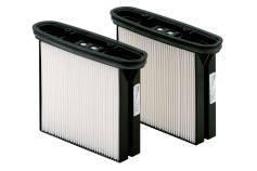 2 HEPA-filtercassettes, Polyester, stofklasse H (HEPA 14) (630326000)