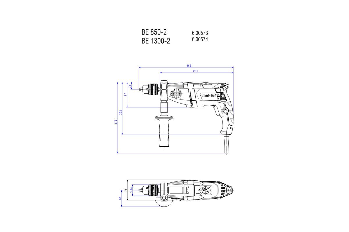 BEV 1300-2 (600574000) Boormachine | Metabo Elektrisch gereedschap