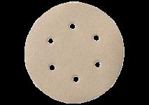 Selvheftende slipepapir 150 mm diameter, 6 hull