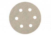 Selvheftende slipepapir 80 mm diam., 6 hull
