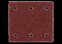 Selvheftende slipepapir 103 x 115 mm, 6 hull, med borrelås