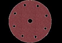 Selvheftende slipepapir 150 mm diameter, 9 hull