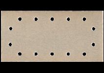Selvheftende slipepapir 115 x 230 mm, 14 hull, med borrelås