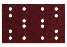 Selvheftende slipepapirer 80 x 133 mm, 16 hull, borrelås