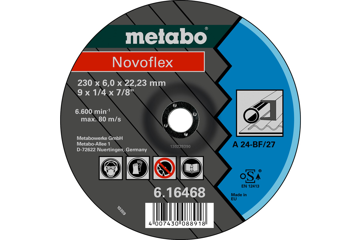 Novoflex 125x6,0x22,23 stål, SF 27 (616462000)