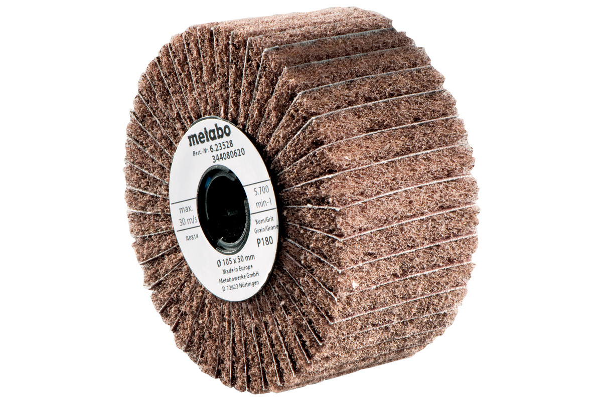 Lamell-/ fleece-slipehjul105x50mm, P 180 (623528000)