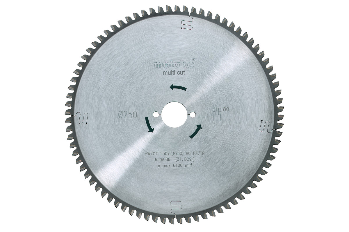 Sirkelsagblad HW/CT 250x30, 80 FZ/TZ, 5° neg. (628088000)