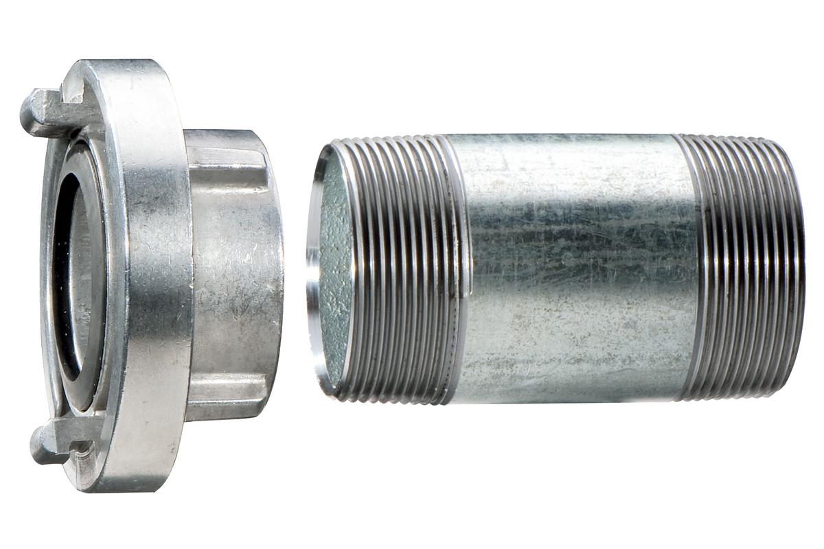 "Vinkeltilkobling 1 1/2"" med forlengelsesrør 100 mm (628801000)"