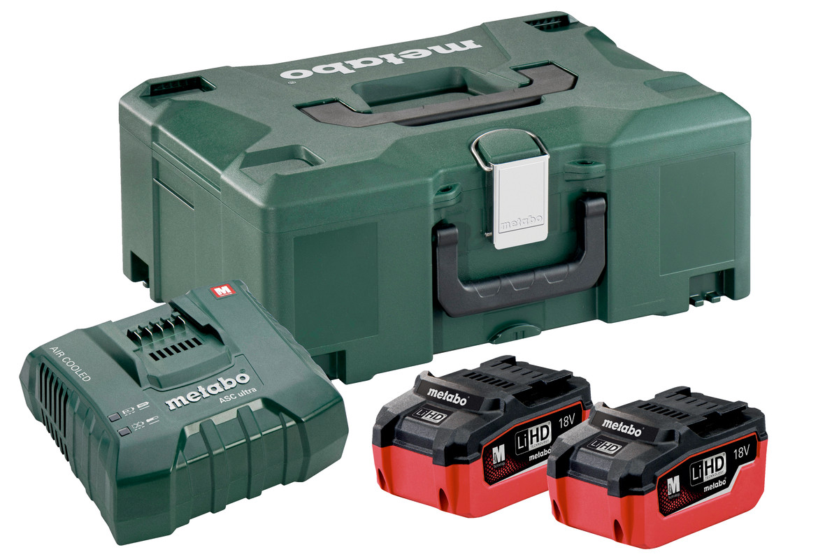 Basis-sett 2 x LiHD 6.2Ah + ASC Ultra + Metaloc (685105000)