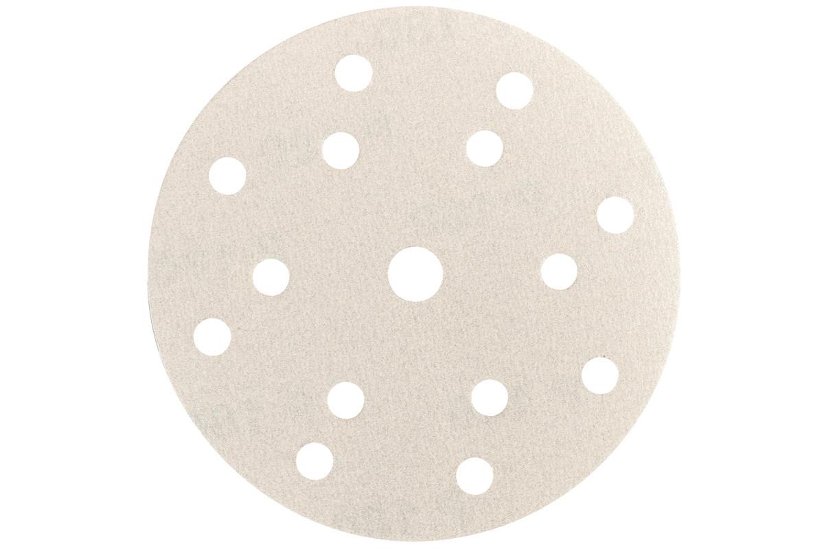 """50 Selvheftende slipe papirer150 mm, P320, maling, """"multi-hole"""" (626690000)"""