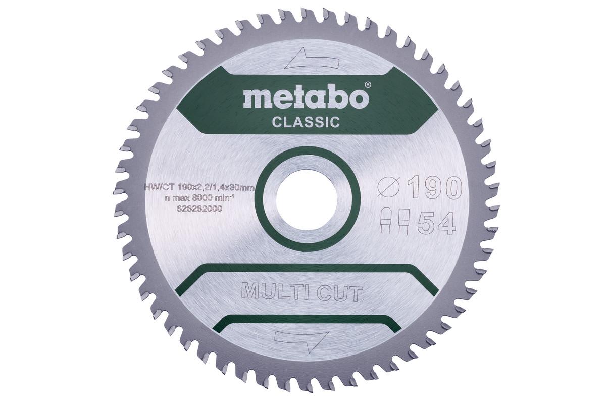 """Sagblad """"multi cut - classic"""", 190x30 Z54 FZ/TZ 5° (628282000)"""