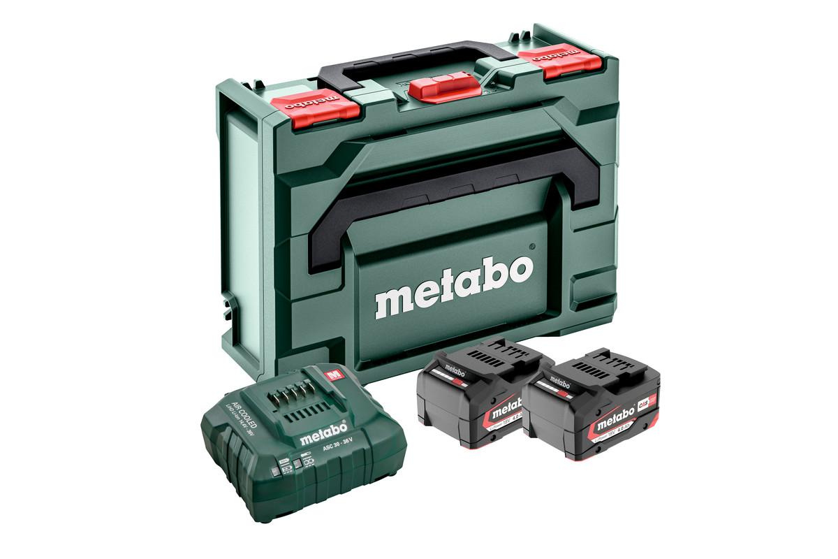 Basis-sett 2 x 4.0 Ah + metaBOX 145 (685064000)