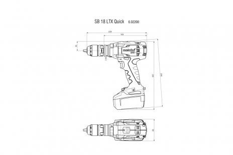 SB 18 LTX Quick (602200660) Batteri slagbormaskin