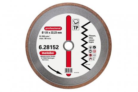 "Dia-TS, 125x1,7x22,23 mm, ""professional"", ""TP"", fliser (628152000)"