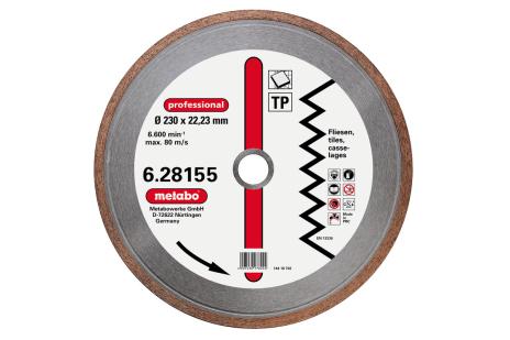 "Dia-TS, 115x1,7x22,23 mm, ""professional"", ""TP"", fliser (628151000)"