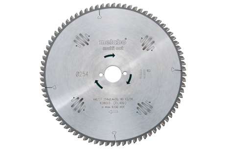 Sirkelsagblad HW/CT 254x30, 80 FZ/TZ, 5° neg. (628223000)