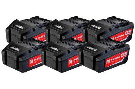 Sett med 6 x Li-Power batterier 18 V/4.0 Ah (625151000)