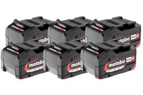 Sett med 6 x Li-Power batterier 18 V/5.2 Ah (625152000)