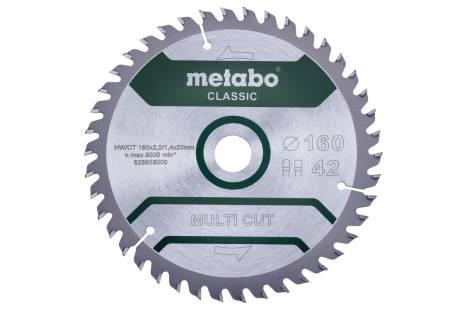 """Sagblad """"multi cut - classic"""", 160x20 Z42 FZ/TZ 5° /B (628658000)"""