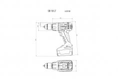 SB 18 LT Set (602103940) Batteri slagbormaskin