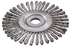 Rundbørste 125x0,5x6 22,23 mm/ M 14, stål, flettet (626815000)