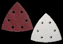 Grinding media for triangular base-plate sanders
