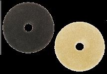 Polishing media for fillet weld sanders