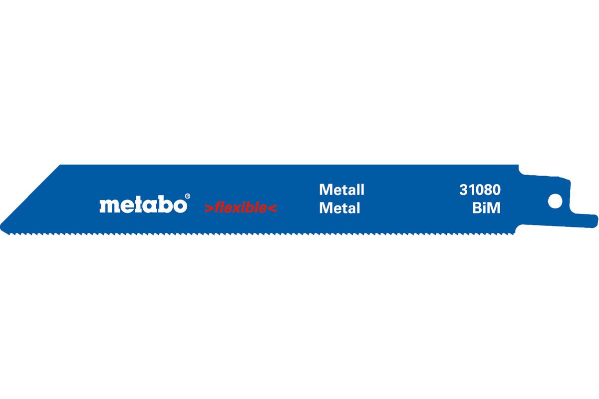 5 Sabre saw blades,metal,flexible,150 x 0.9 mm (631454000)