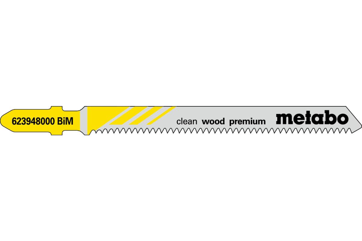 """5 Jigsaw blades """"clean wood premium"""" 74/ 1.7 mm (623948000)"""