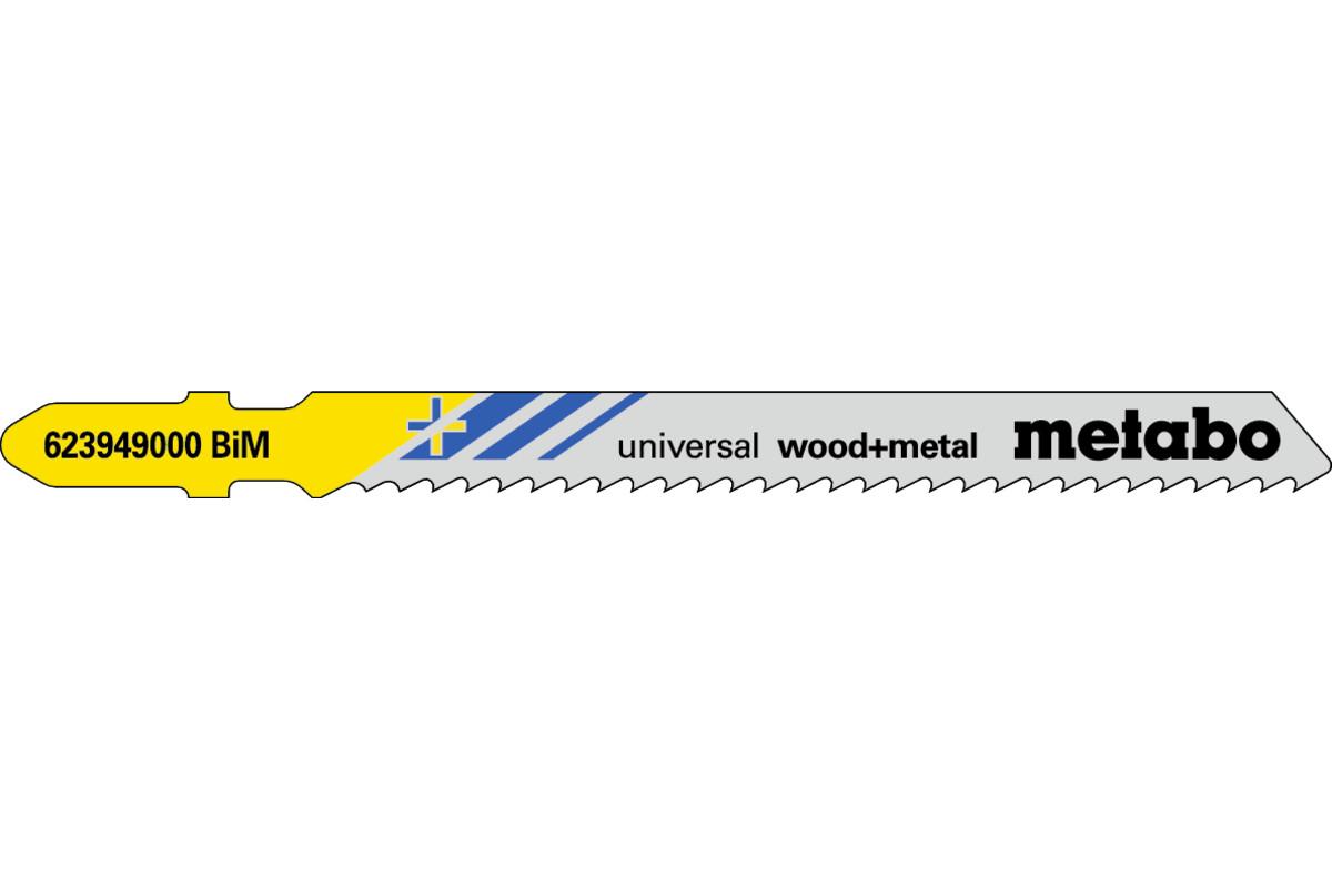 """5 Jigsaw blades """"universal wood + metal"""" 90/ 2.5 mm (623949000)"""