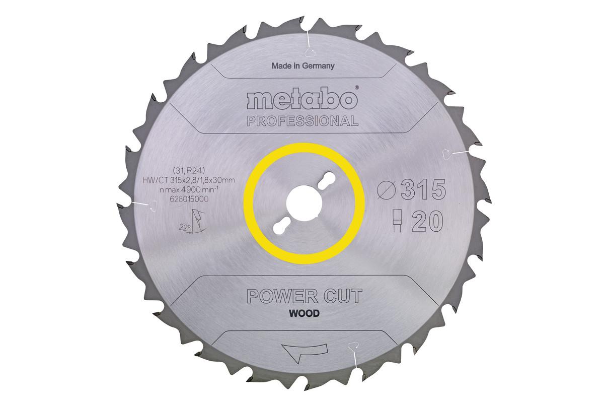 """Saw blade """"power cut wood - professional"""", 315x30, Z24 WZ 20° (628016000)"""