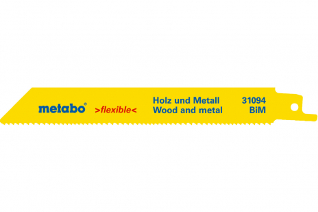 2 Sabre saw blades,W+M,flexible,150 x 0.9 mm (631094000)