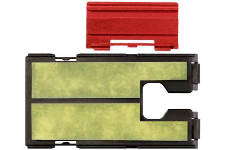 Plastic guard plate with fabric reinforced laminate insert for jigsaw (623597000)