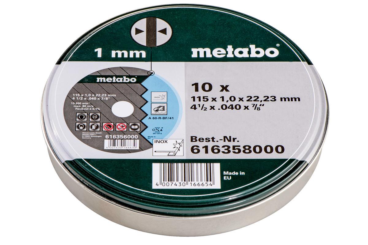 10 tarcz tnących - SP 115x1,0x22,23 Inox, TF 41 (616358000)