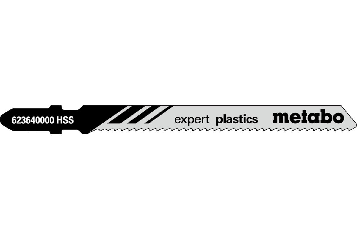 """5 brzeszczotów do wyrzynarek """"expert plastics"""" 74/2,0mm (623640000)"""