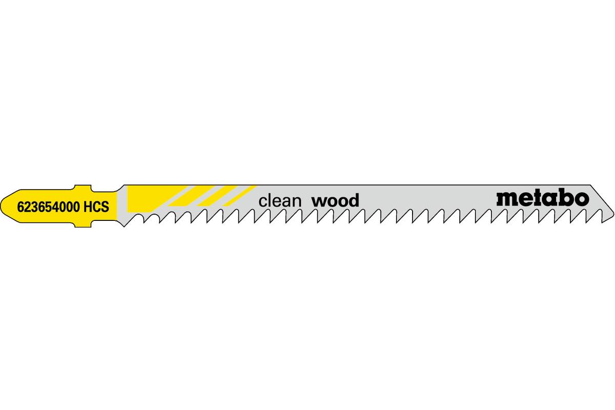 """5 brzeszczotów do wyrzynarek """"clean wood"""" 91 mm / 3,0 (623654000)"""