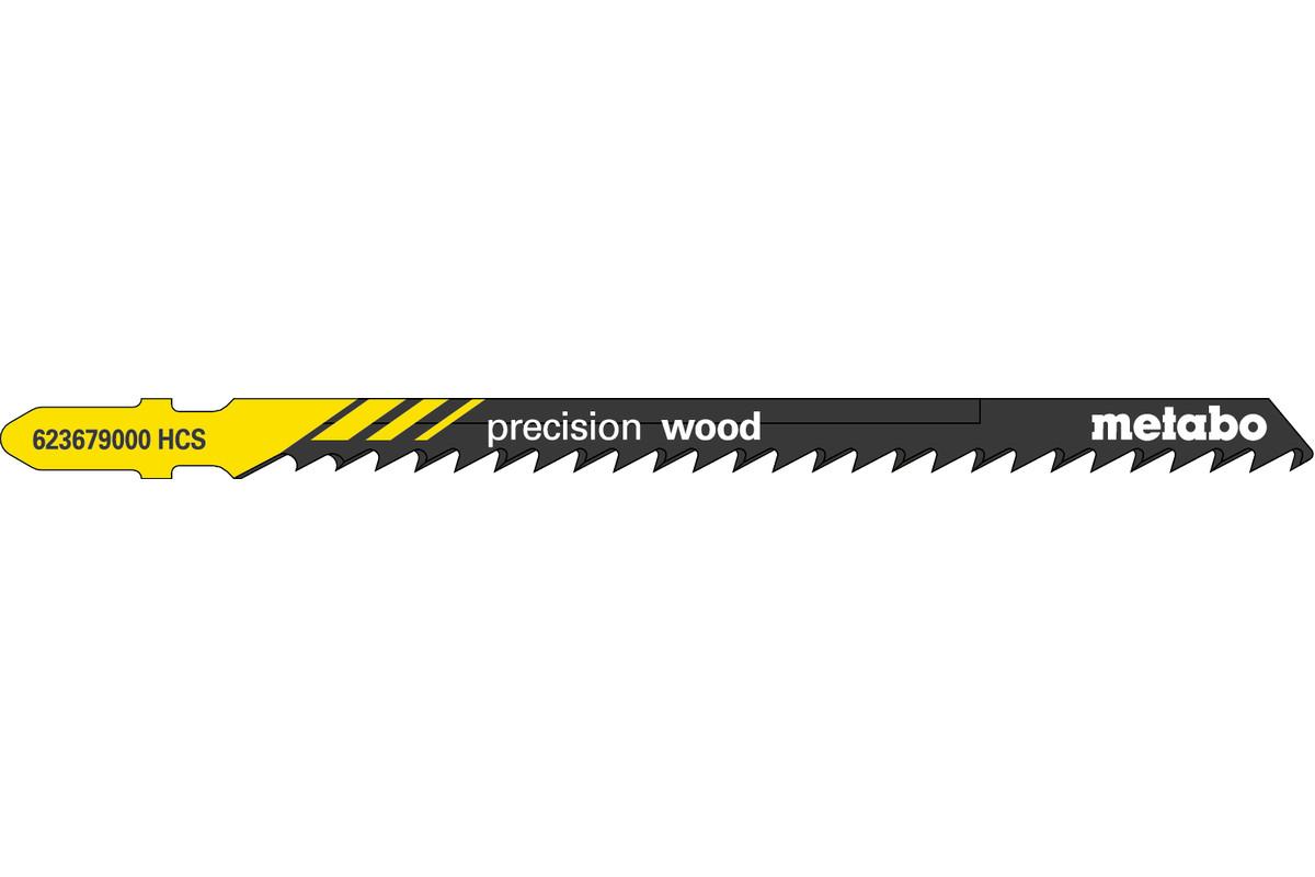 """5 brzeszczotów do wyrzynarek """"precision wood"""" 104/ 4,0 mm (623679000)"""