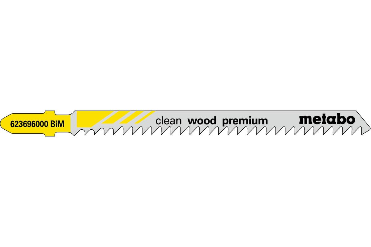"""5 brzeszczotów do wyrzynarek """"clean wood premium"""" 91/ 3,0 mm (623696000)"""