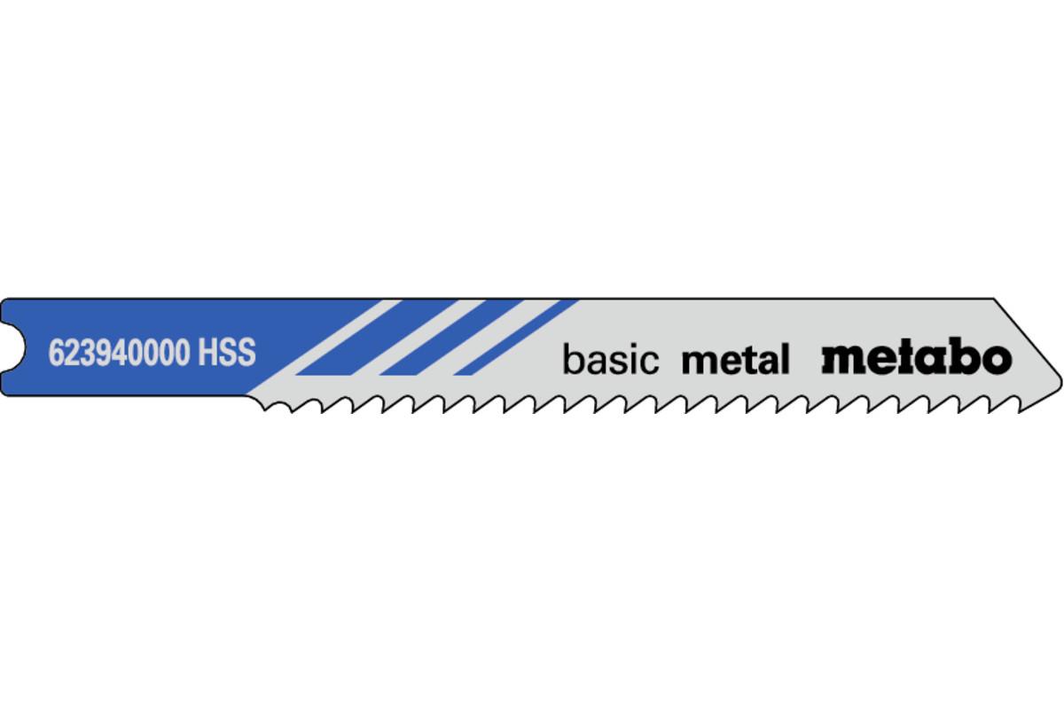 """5 U-brzeszczotów do wyrzynarek """"basic metal"""" 52/2,0 mm (623940000)"""