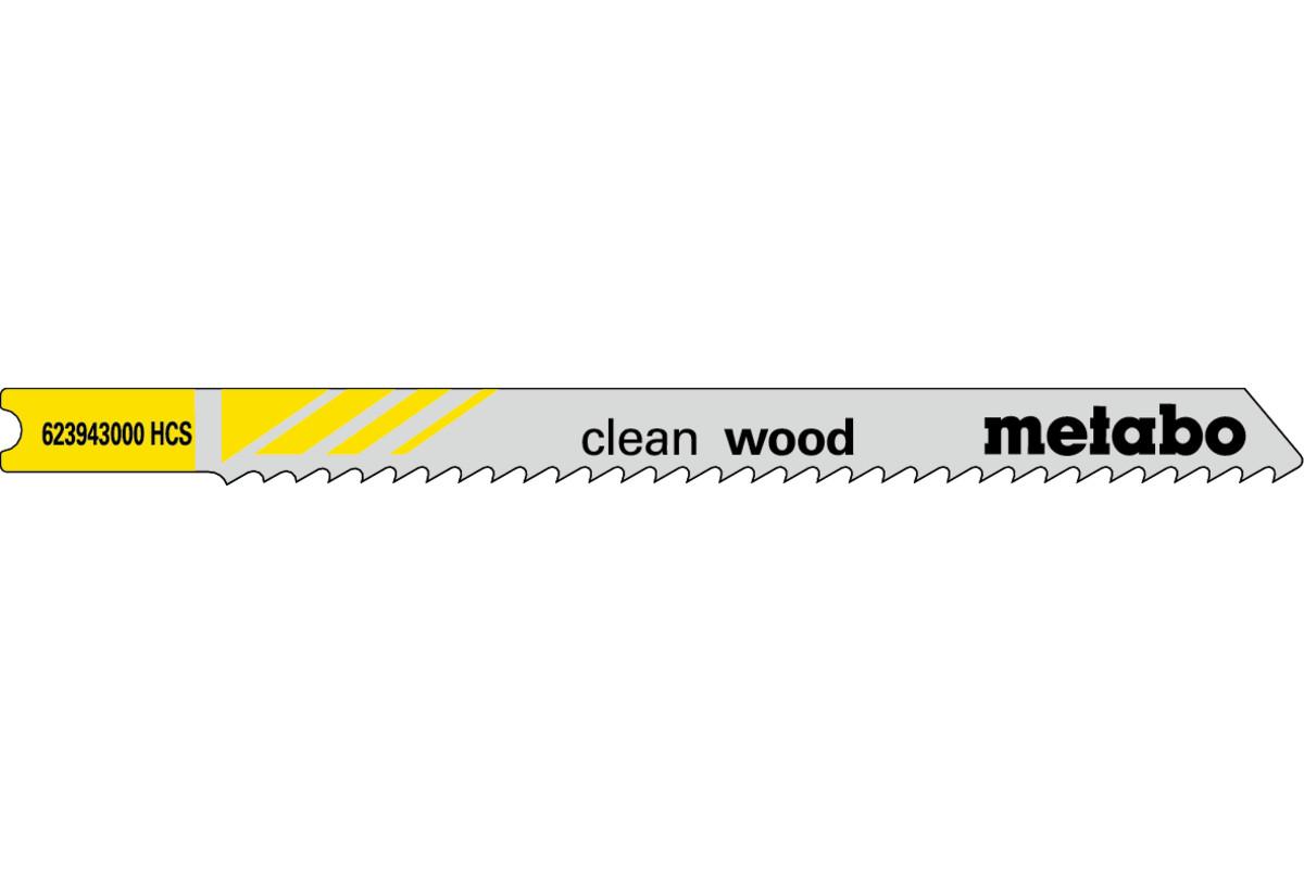 """5 U-brzeszczotów do wyrzynarek """"clean wood"""" 82/2,5 mm (623943000)"""