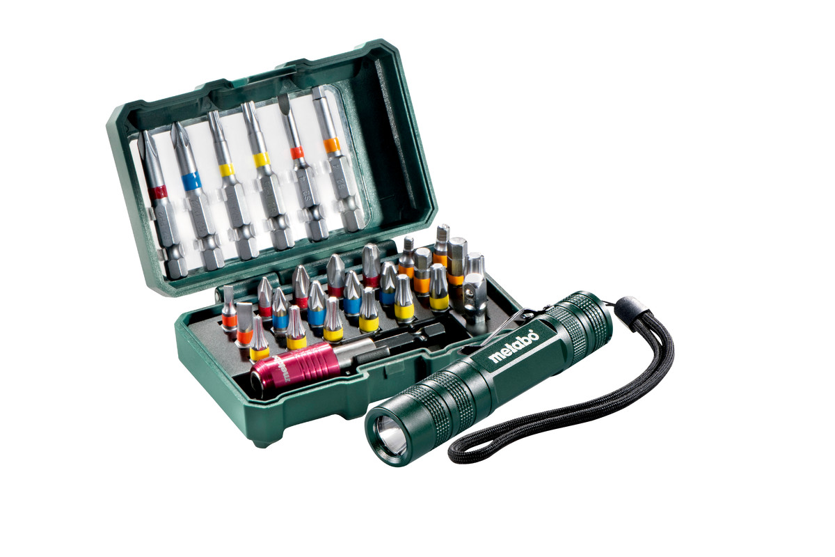"""Zestaw bitów """"SP"""", 29 części + latarka Mini Flash light (626721000)"""