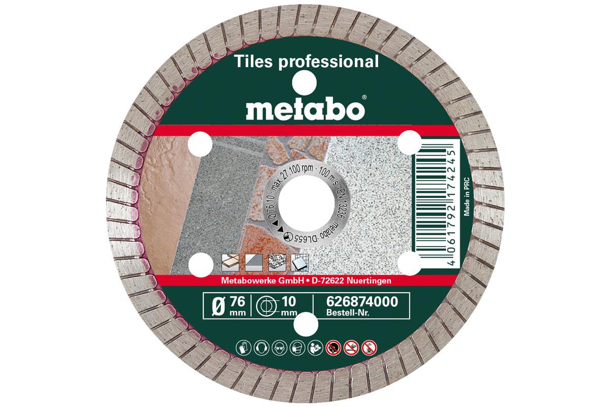 """Diamentowa tarcza tnąca, 76x10,0 mm, """"TP"""", do płytek ceramicznych """"professional"""" (626874000)"""