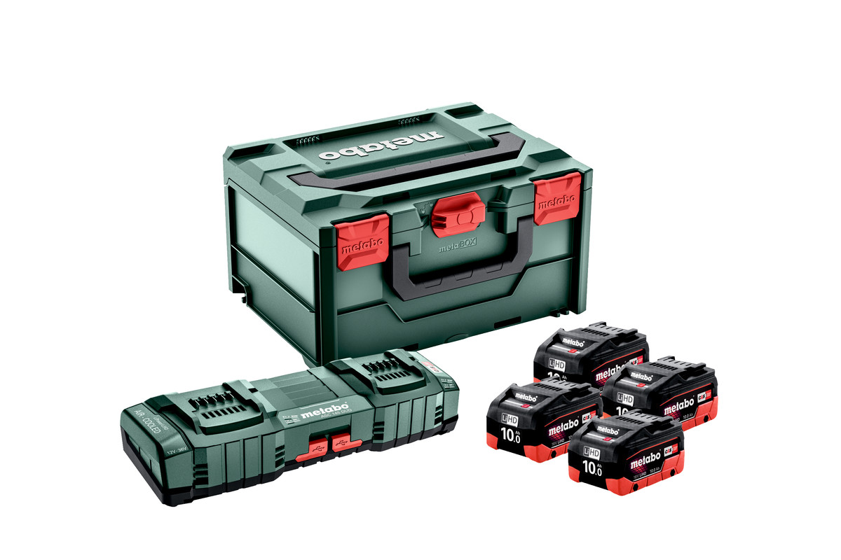 Zestaw podstawowy 4x LiHD 10 Ah + ASC 145 DUO + metaBOX (685143000)