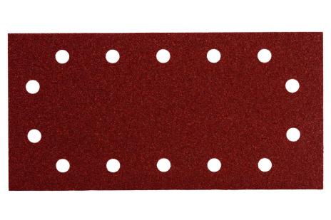 10 samoprzyczepnych arkuszy szlifierskich 115x230 mm, P 80, drewno+metal, SR (625788000)
