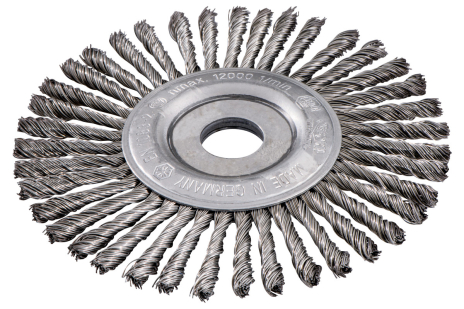 Szczotka obwodowa 150x0,5x6 / 22,23 mm, stal, pleciona (626816000)