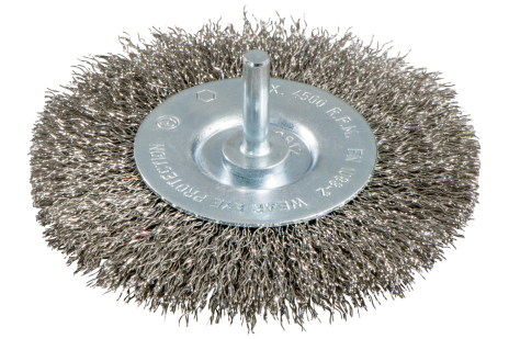 Szczotka obwodowa 75x0,3 mm / 6 mm, stal szlachetna, wykonanie falowane (630550000)