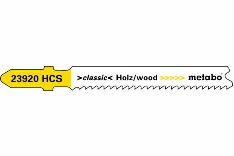 """5 brzeszczotów do wyrzynarek """"basic wood"""" 66 mm/progr. (623920000)"""