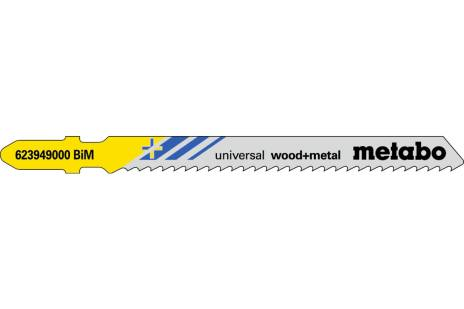 """5 brzeszczotów do wyrzynarek """"universal wood + metal"""" 90/ 2,5 mm (623949000)"""